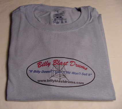 Billy Blast Logo Powder Blue Tee Shirt Medium